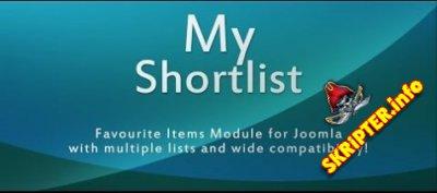 My Shortlist v1.8.251 - создание списка избранных статей для Joomla