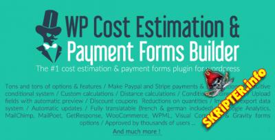 WP Cost Estimation & Payment Forms Builder v9.742 Nulled - конструктор калькулятора цен для WordPress