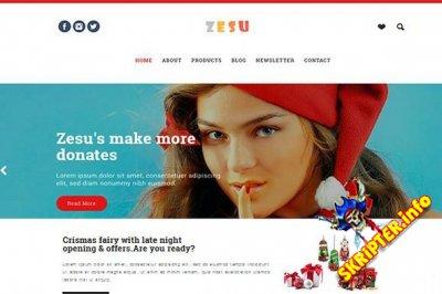 Zesu v1.0 - новогодний HTML шаблон