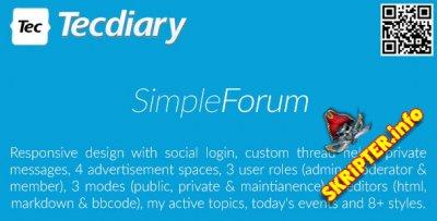 Simple Forum v1.4.0 - скрипт форума
