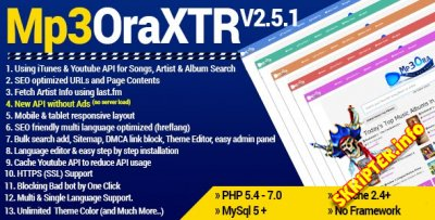 Mp3OraXtr v2.5.1 Rus - скрипт музыкальной поисковой системы