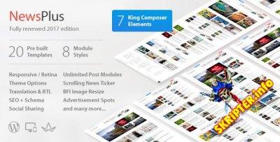 NewsPlus v3.8.0 - универсальный шаблон для Wordpress