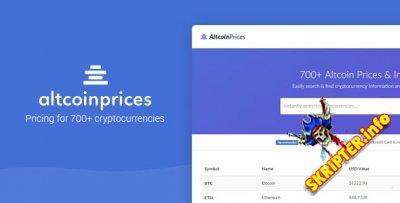 Altcoin Prices v1.0 - скрип цен 700+ криптовалют