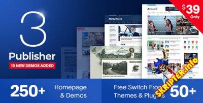 Publisher v3.2.0 - многоцелевой шаблон для WordPress