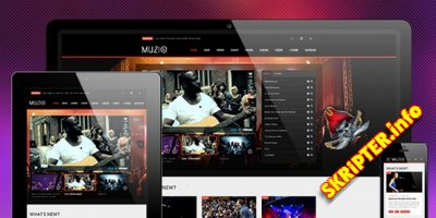 JA Muzic v1.1.6 - музыкальный шаблон для Joomla