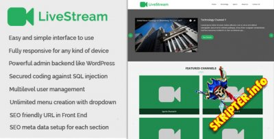 LiveStream v1.0 - Online Video Streaming CMS