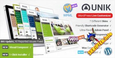 Unik v1.8.7 - многоцелевой шаблон для WordPress