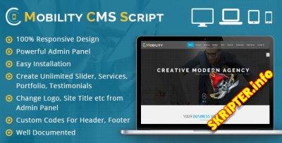 Mobility CMS v1.0.3 - скрипт одностраничного сайта