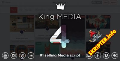 King Media v4.1 Nulled - скрипт мультимедийного сайта