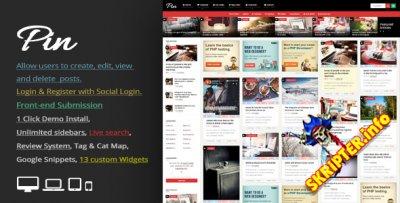 Pin v3.7.1 - блоговый шаблон для WordPress