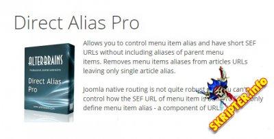 Direct Alias Pro v1.3.0 - красивые ссылки в Joomla