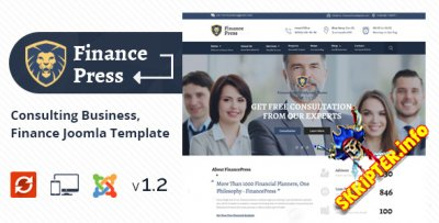 Finance Press v1.2 - финансы / бизнес шаблон для Joomla