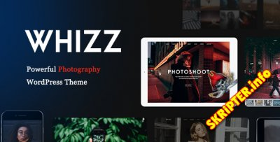 Whizz v1.3.9.12 - фoтo / пopтфoлиo шаблон для WordPress