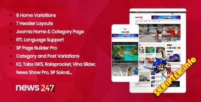 TF News247 v2.2 - шаблон новостного портала для Joomla