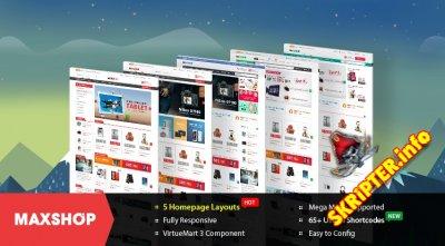 SJ Maxshop v2.1.3 - шаблон интернет магазина для Joomla