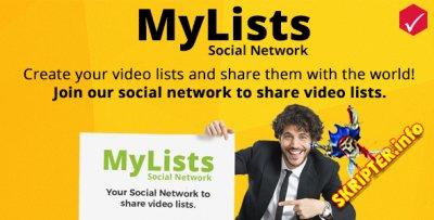 MyLists v1.1 - социальная сеть для обмена видео