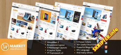 SJ Market v1.2.3 - шаблон интернет магазина для Joomla