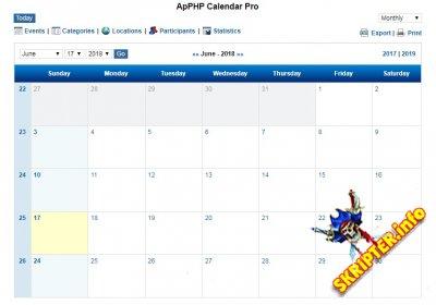 ApPHP Calendar v3.7.5 - скрипт календаря на PHP