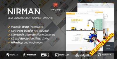 Nirman v1.1.0 - строительный шаблон для Joomla