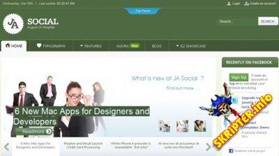 JA Social v1.1.7 - шаблон социальной сети для Joomla