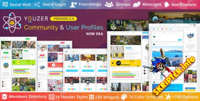 Youzer v2.5.6 Rus Nulled - система членства для WordPress