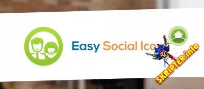 Easy Social Icons Pro v3.1.4 - иконки социальных сетей для Joomla