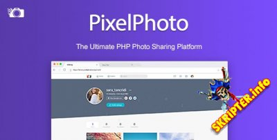 PixelPhoto v1.0.2 Nulled - скрипт социальной сети