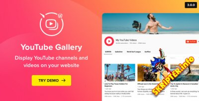 YouTube Gallery v3.3.0 - галерея YouTube для WordPress