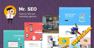 Mr.SEO v1.5 - шаблон для маркетинговых агентств WordPress