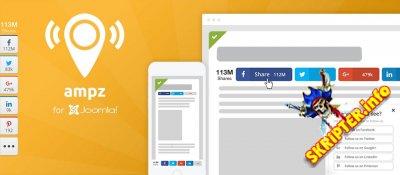 AMPZ v3.5 - социальные кнопки для Joomla