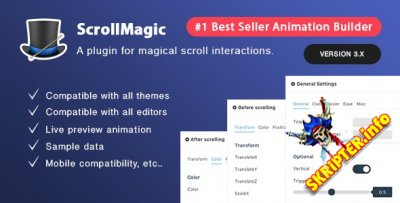 Scroll Magic v3.7.0 - плагин анимации прокрутки для WordPress