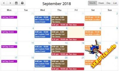 DPCalendar Premium v7.0.3 Rus - мощный календарь событий для Joomla