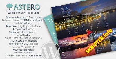 Astero v1.4.3 - прогноз погоды для WordPress