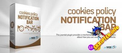 Cookies Policy Notification Bar v3.8.1 - уведомление о куках для Joomla