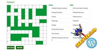 Crossword Puzzle Game for WordPress