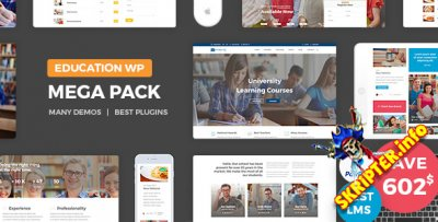 Education Pack v1.3 - образовательная тема для WordPress