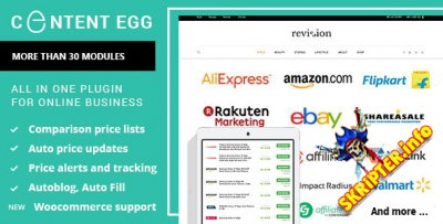 Content Egg v6.4.0 Rus Nulled - плагин для создания партнёрских сайтов