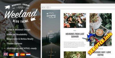 Weeland v1.2.2 - блоговая тема для WordPress