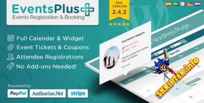 Events Plus v2.4.3 - адаптивный календарь событий для WordPress