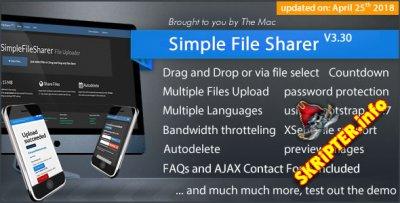 Simple File Sharer v3.30 - скрипт хостинга файлов