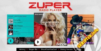 Zuper v2.1.2 - радио-плеер для WordPress
