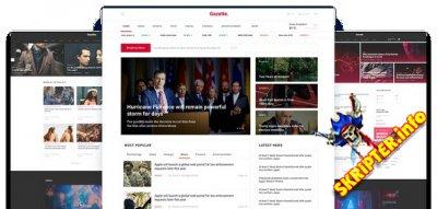 JS Gazette v1.2 - новостной шаблон для Joomla