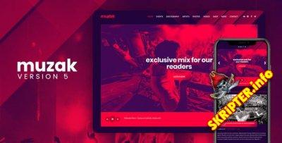 Muzak v5.3.1 - музыкальная тема для WordPress