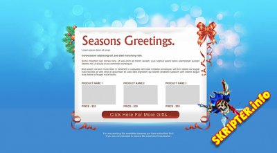 Seasons Greetings - новогодний HTML шаблон email рассылки