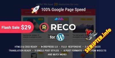 Reco v4.0.5 Rus Nulled - шаблон для блога или новостного сайта WordPress