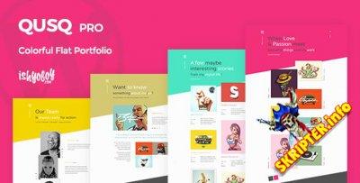 Qusq Pro v1.6 – тема WordPress для сайтов-портфолио