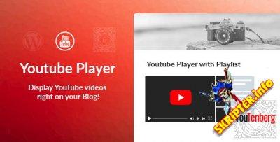 Youtenberg v1.0.1 - Gutenberg YouTube плеер с плейлистом
