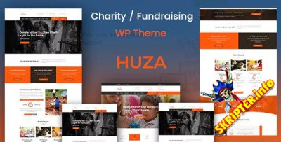 Huza v1.3 - тема благотворительности / сбора средств для WordPress