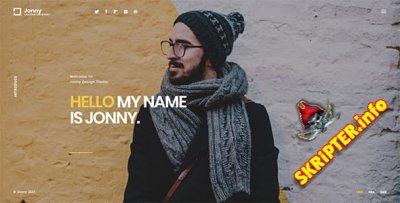 Jonny v1.01 - одностраничный HTML шаблон