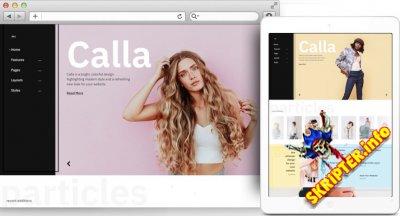 RT Calla v1.2.2 - шаблон блога о красоте и стиле для Joomla